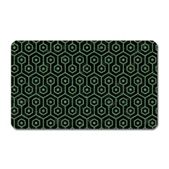 Hexagon1 Black Marble & Green Denim (r) Magnet (rectangular) by trendistuff