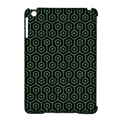 Hexagon1 Black Marble & Green Denim (r) Apple Ipad Mini Hardshell Case (compatible With Smart Cover) by trendistuff