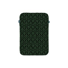 Hexagon1 Black Marble & Green Denim (r) Apple Ipad Mini Protective Soft Cases by trendistuff