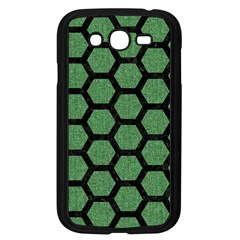 Hexagon2 Black Marble & Green Denim Samsung Galaxy Grand Duos I9082 Case (black) by trendistuff