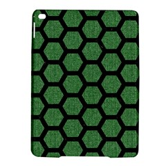 Hexagon2 Black Marble & Green Denim Ipad Air 2 Hardshell Cases by trendistuff