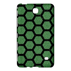 Hexagon2 Black Marble & Green Denim Samsung Galaxy Tab 4 (8 ) Hardshell Case  by trendistuff