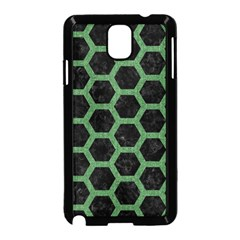 Hexagon2 Black Marble & Green Denim (r) Samsung Galaxy Note 3 Neo Hardshell Case (black) by trendistuff