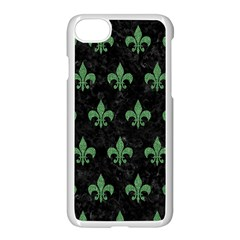 Royal1 Black Marble & Green Denim Apple Iphone 8 Seamless Case (white) by trendistuff