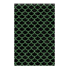 Scales1 Black Marble & Green Denim (r) Shower Curtain 48  X 72  (small)  by trendistuff