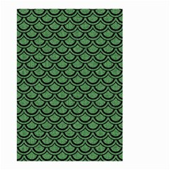 Scales2 Black Marble & Green Denim Small Garden Flag (two Sides) by trendistuff