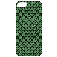 Scales2 Black Marble & Green Denim Apple Iphone 5 Classic Hardshell Case by trendistuff