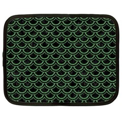Scales2 Black Marble & Green Denim (r) Netbook Case (xxl)  by trendistuff