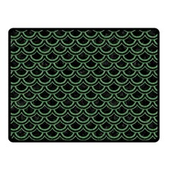 Scales2 Black Marble & Green Denim (r) Double Sided Fleece Blanket (small)  by trendistuff