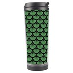 SCALES3 BLACK MARBLE & GREEN DENIM Travel Tumbler Left