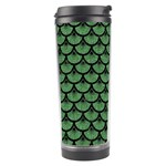 SCALES3 BLACK MARBLE & GREEN DENIM Travel Tumbler Center