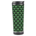 SCALES3 BLACK MARBLE & GREEN DENIM Travel Tumbler Right