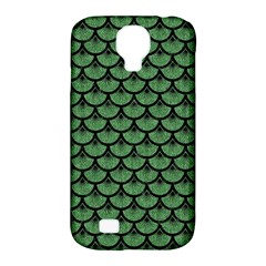 Scales3 Black Marble & Green Denim Samsung Galaxy S4 Classic Hardshell Case (pc+silicone) by trendistuff
