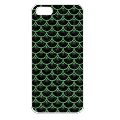 Scales3 Black Marble & Green Denim (r) Apple Iphone 5 Seamless Case (white) by trendistuff
