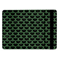 Scales3 Black Marble & Green Denim (r) Samsung Galaxy Tab Pro 12 2  Flip Case by trendistuff