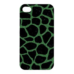 Skin1 Black Marble & Green Denim Apple Iphone 4/4s Hardshell Case by trendistuff