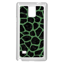 Skin1 Black Marble & Green Denim Samsung Galaxy Note 4 Case (white) by trendistuff