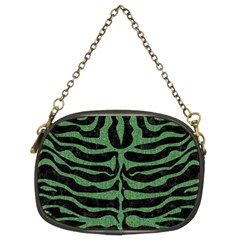 Skin2 Black Marble & Green Denim (r) Chain Purses (two Sides)  by trendistuff