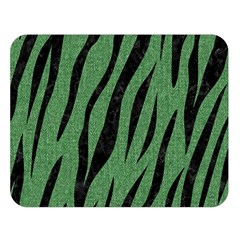 Skin3 Black Marble & Green Denim Double Sided Flano Blanket (large)  by trendistuff