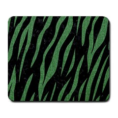 Skin3 Black Marble & Green Denim (r) Large Mousepads by trendistuff