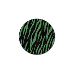 Skin3 Black Marble & Green Denim (r) Golf Ball Marker by trendistuff
