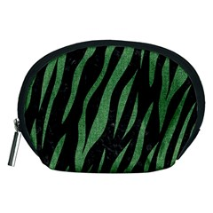 Skin3 Black Marble & Green Denim (r) Accessory Pouches (medium)  by trendistuff