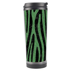 Skin4 Black Marble & Green Denim Travel Tumbler by trendistuff