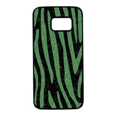 Skin4 Black Marble & Green Denim Samsung Galaxy S7 Black Seamless Case by trendistuff