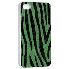 Skin4 Black Marble & Green Denim (r) Apple Iphone 4/4s Seamless Case (white) by trendistuff
