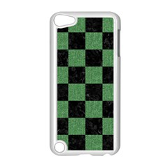 Square1 Black Marble & Green Denim Apple Ipod Touch 5 Case (white) by trendistuff