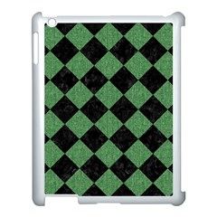 Square2 Black Marble & Green Denim Apple Ipad 3/4 Case (white) by trendistuff