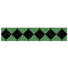 Square2 Black Marble & Green Denim Small Flano Scarf by trendistuff