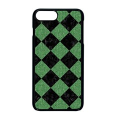 Square2 Black Marble & Green Denim Apple Iphone 8 Plus Seamless Case (black) by trendistuff