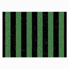 Stripes1 Black Marble & Green Denim Large Glasses Cloth by trendistuff