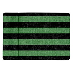 Stripes2 Black Marble & Green Denim Samsung Galaxy Tab 10 1  P7500 Flip Case by trendistuff