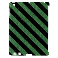 Stripes3 Black Marble & Green Denim Apple Ipad 3/4 Hardshell Case (compatible With Smart Cover) by trendistuff