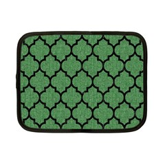 Tile1 Black Marble & Green Denim Netbook Case (small)  by trendistuff