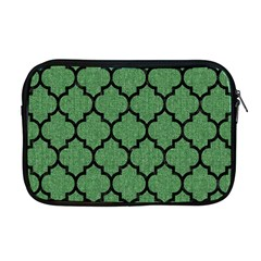 Tile1 Black Marble & Green Denim Apple Macbook Pro 17  Zipper Case by trendistuff