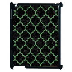 Tile1 Black Marble & Green Denim (r) Apple Ipad 2 Case (black) by trendistuff