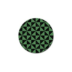 Triangle1 Black Marble & Green Denim Golf Ball Marker