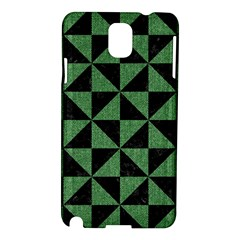 Triangle1 Black Marble & Green Denim Samsung Galaxy Note 3 N9005 Hardshell Case by trendistuff