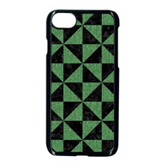 Triangle1 Black Marble & Green Denim Apple Iphone 7 Seamless Case (black) by trendistuff