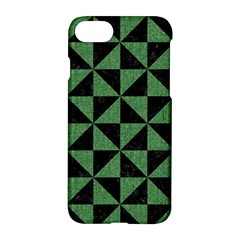 Triangle1 Black Marble & Green Denim Apple Iphone 8 Hardshell Case by trendistuff