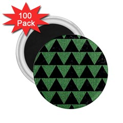 Triangle2 Black Marble & Green Denim 2 25  Magnets (100 Pack)