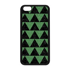 Triangle2 Black Marble & Green Denim Apple Iphone 5c Seamless Case (black) by trendistuff