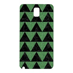 Triangle2 Black Marble & Green Denim Samsung Galaxy Note 3 N9005 Hardshell Back Case by trendistuff