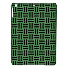 Woven1 Black Marble & Green Denim Ipad Air Hardshell Cases by trendistuff