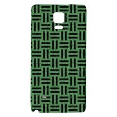 Woven1 Black Marble & Green Denim Galaxy Note 4 Back Case by trendistuff