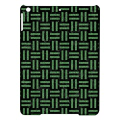 Woven1 Black Marble & Green Denim (r) Ipad Air Hardshell Cases by trendistuff