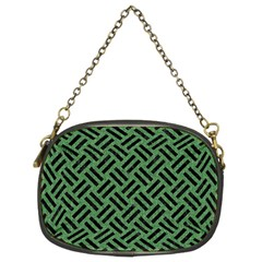 Woven2 Black Marble & Green Denim Chain Purses (two Sides)  by trendistuff